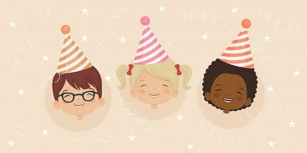 Birthday party invitation card template Premium Vector