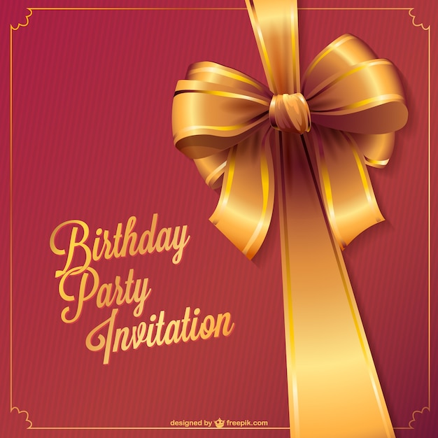 Birthday party invitation vector Vector Free Download