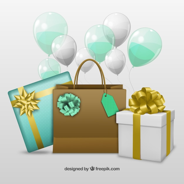 birthday presents vector free download