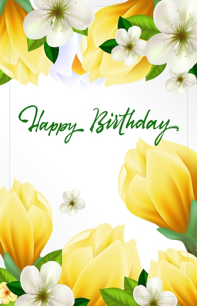 Birthday Wish Greeting Card Vector Free Download