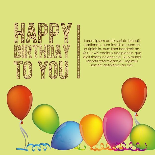 Birthday to you Premium Vector