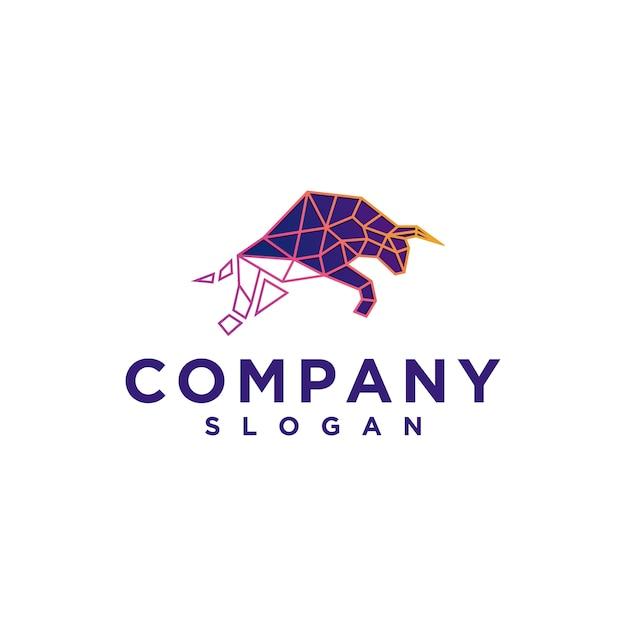 Bison digital logo Premium Vector