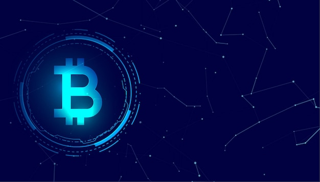 Bitcoin blockchain digital coin crypto currency concept background Free Vector