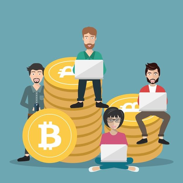 Bitcoin concept Free Vector