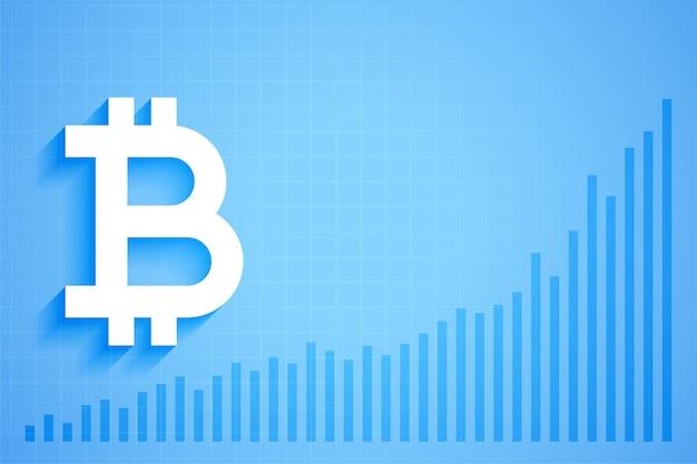 Grafico del grafico di crescita della valuta digitale di criptovaluta bitcoin Vettore gratuito