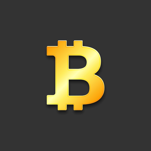 Bitcoin digital currency sign Premium Vector