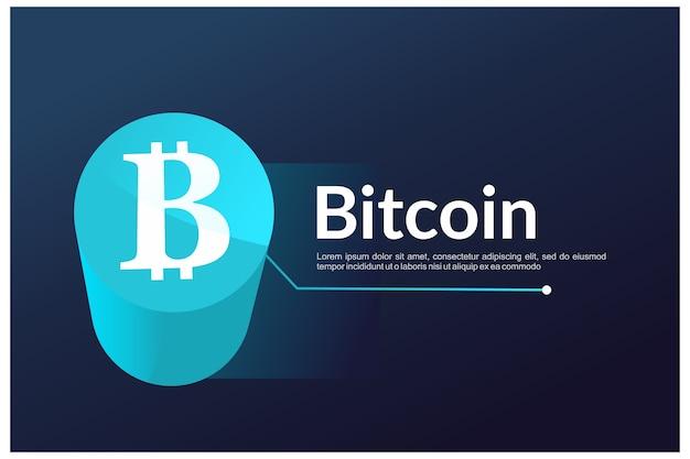 Графика сайта биткойн приземление - криптовалюта Premium векторы