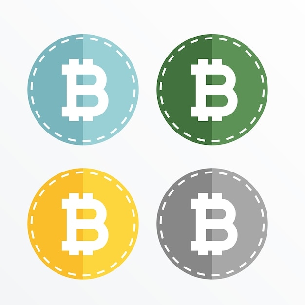 Bitcoin Symbol Icons Vector Design