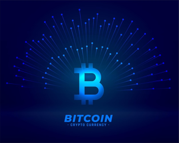 Bitcoin technology background for digital currency concept Free Vector