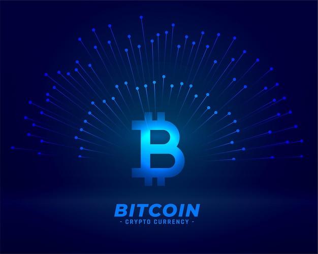 デジタル通貨の概念のためのビットコイン技術の背景 無料ベクター
