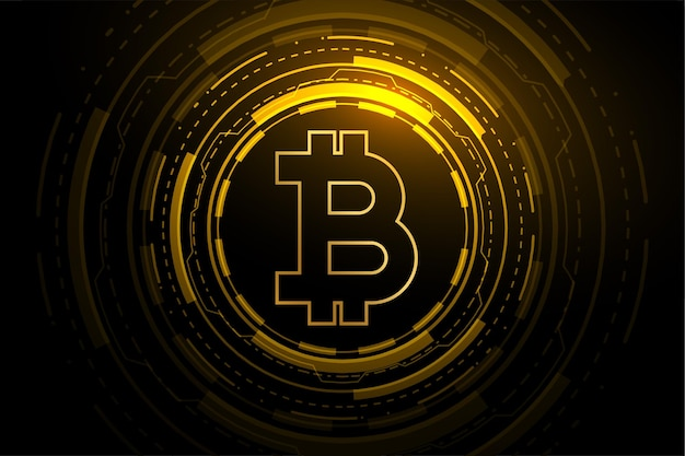 Bitcoin technology crypto currency blockchain concept Free Vector