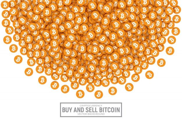 Bitcoin vector abstract conceptual illustration Premium Vector