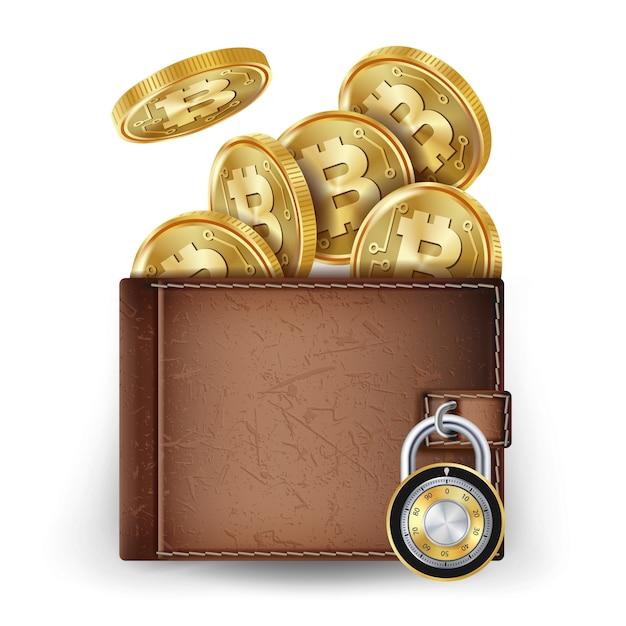 Bitcoin wallet Premium Vector