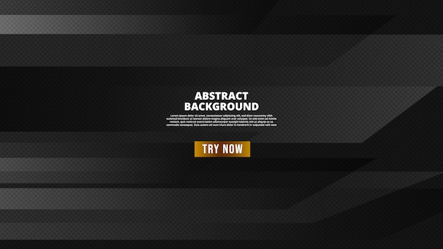 Black-abstract-geometric-background.-modern-shape-concept Premium Vector