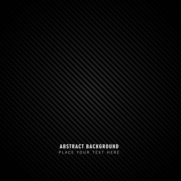 Black abstract lines background Free Vector