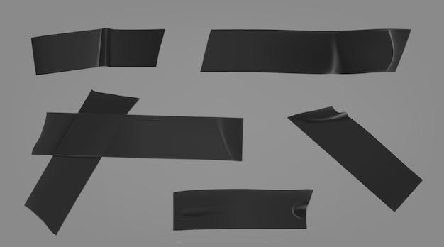 Black adhesive duct set Free Vector