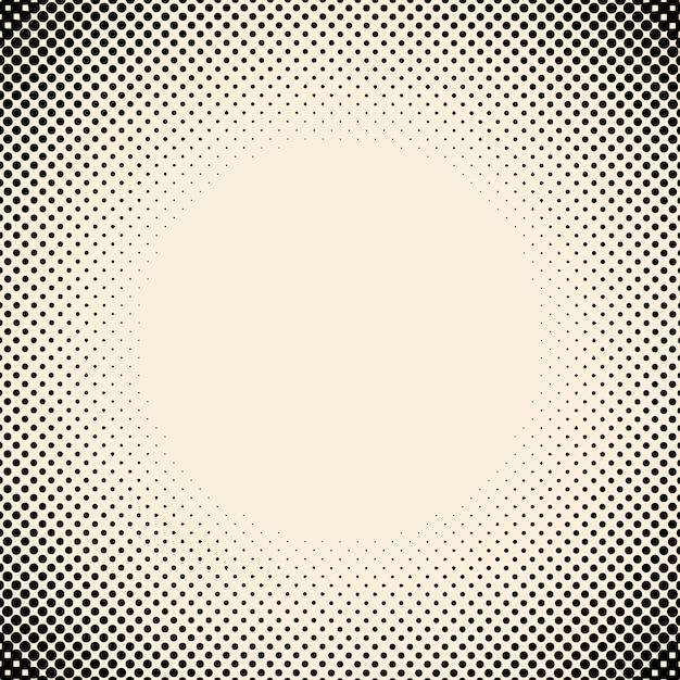 黒とベージュのハーフトーン背景ベクトル 無料ベクター