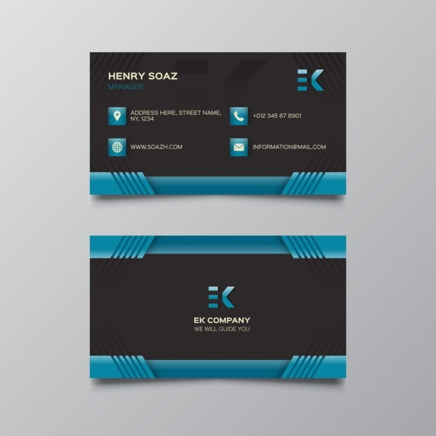Black and dark blue business card vector free download black and dark blue business card free vector reheart Choice Image