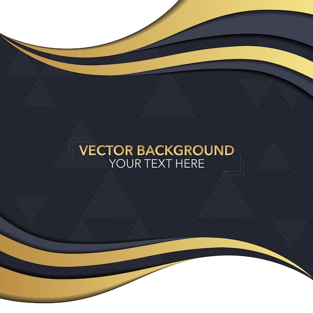 black and gold background desig vector free download