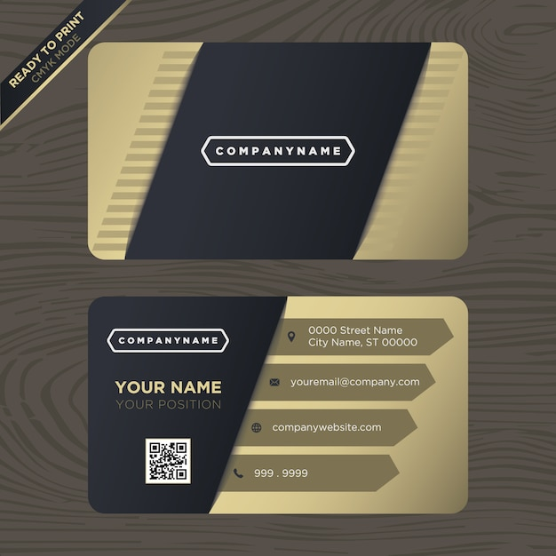 Black and gold business card design vector premium download black and gold business card design premium vector colourmoves
