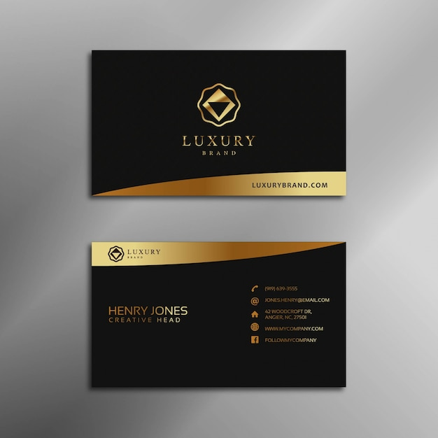 Black and gold business card vector premium download black and gold business card premium vector reheart Choice Image