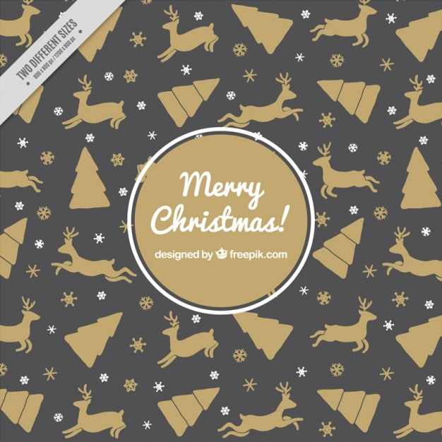 Black and gold christmas pattern