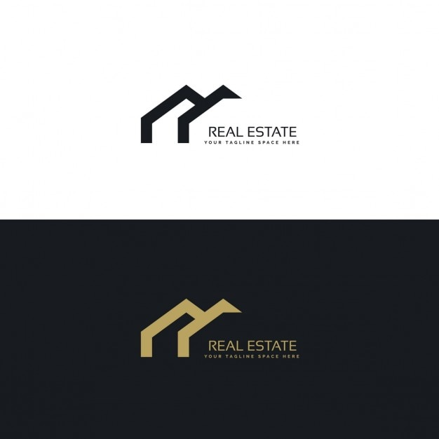 Black and gold geometric logo Free Vector