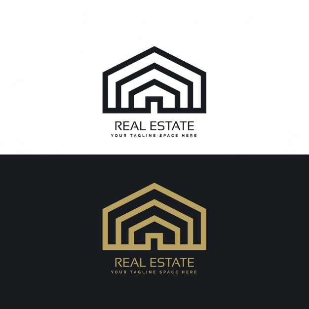 Black And Gold House Logo Vector Free Download