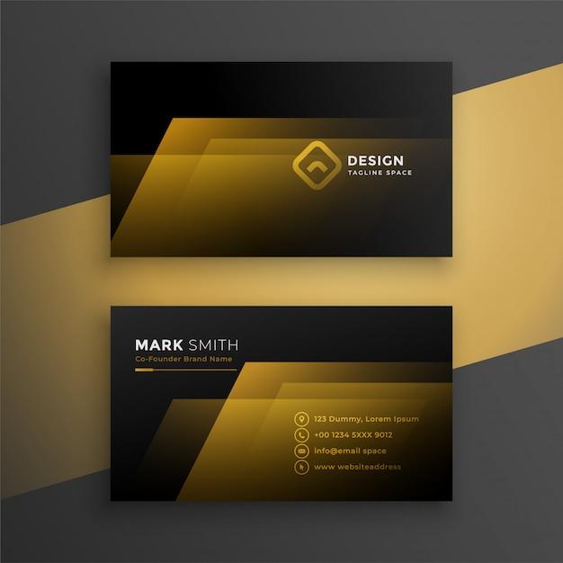 黒と金色の名刺テンプレート 無料ベクター