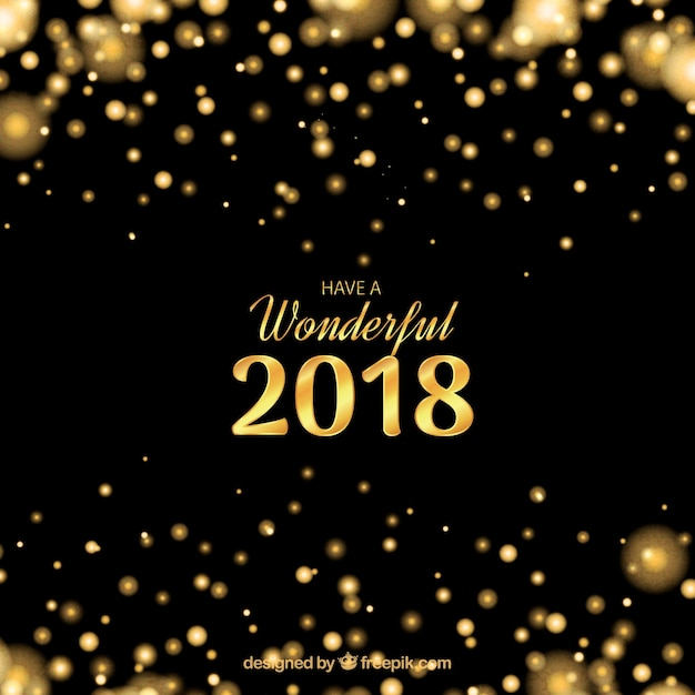 black and golden new year background free vector