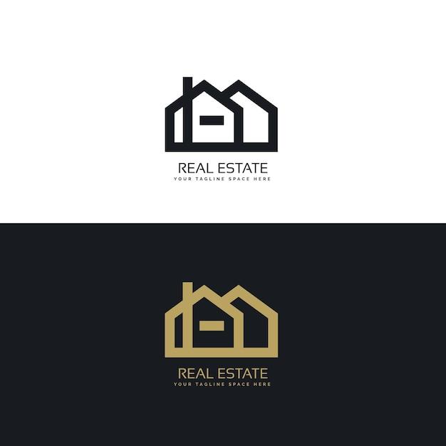 Black and golden real estate logos
