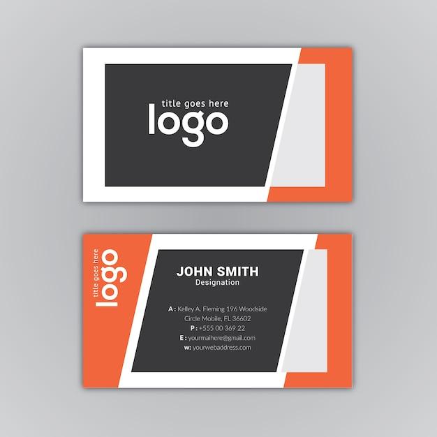 Download vector black and orange business card design vectorpicker black and orange business card design colourmoves