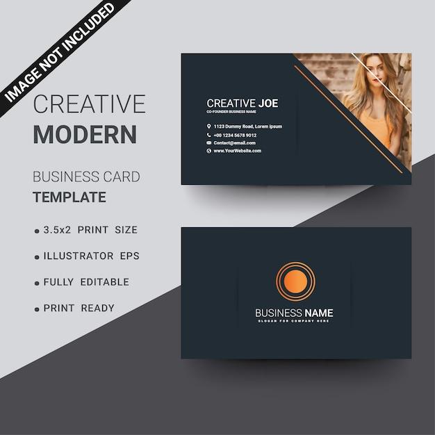 Black and orange business card visiting card vector premium download black and orange business card visiting card premium vector colourmoves