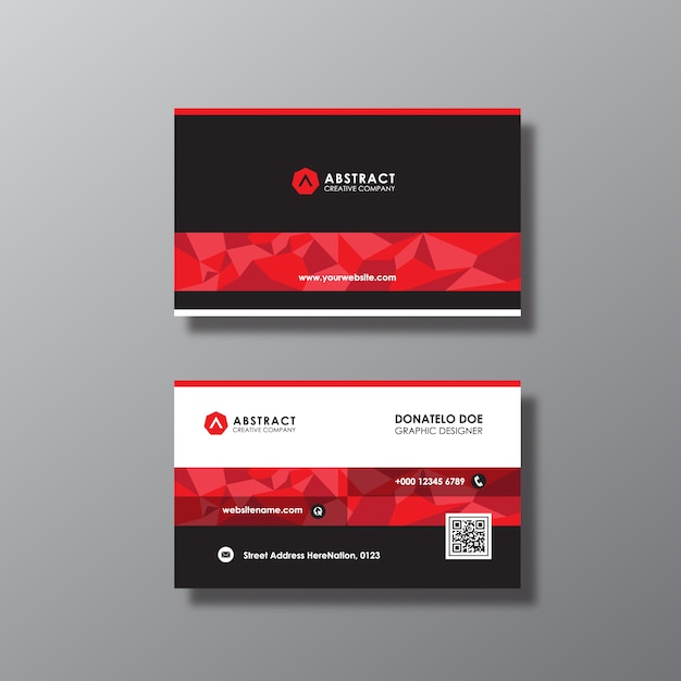 Black and red business card design Vector | Free Download