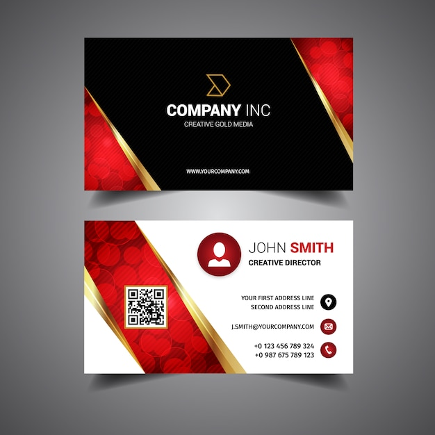Black and red business card vector free download black and red business card free vector reheart Choice Image