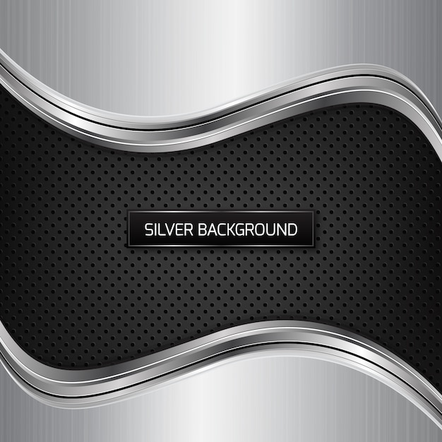 Chrome background vectors photos and psd files free for Black and silver 3d wallpaper