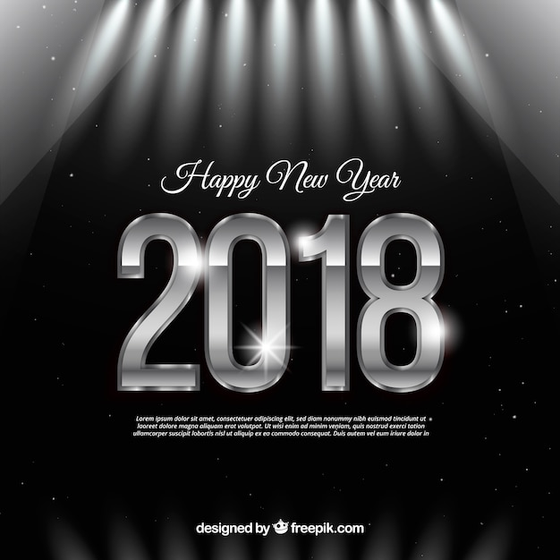 Black and silver new year background