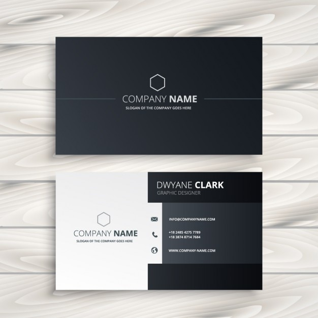Black and white business card vector free download black and white business card free vector fbccfo Choice Image