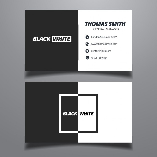 Black and white business card vector free download black and white business card free vector colourmoves