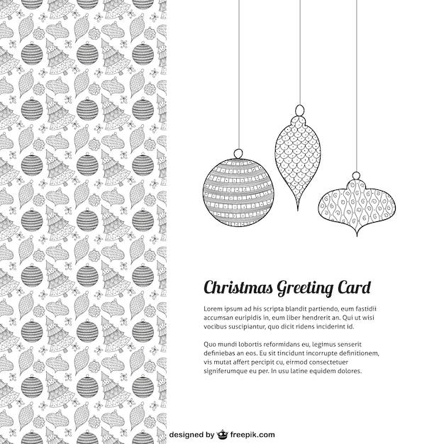 printable black and white christmas cards