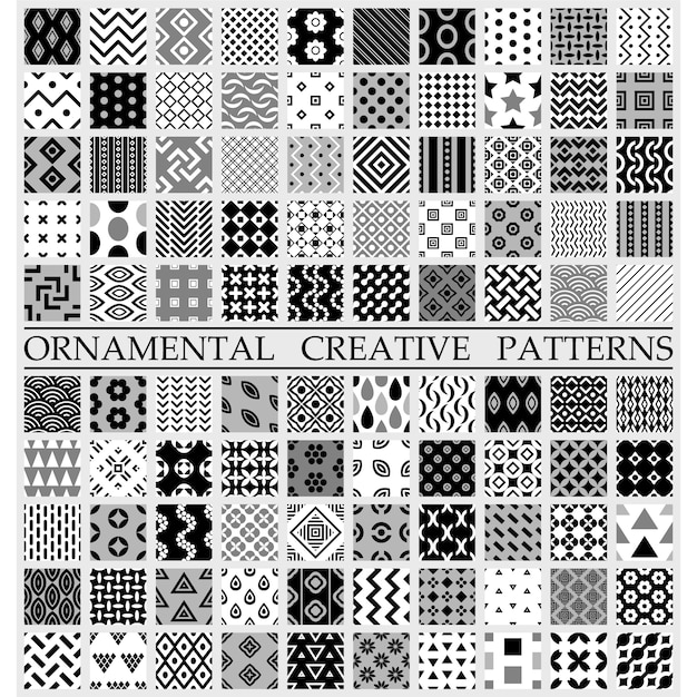 Black And White Creative Patterns Vector Free Download Custom Patterns