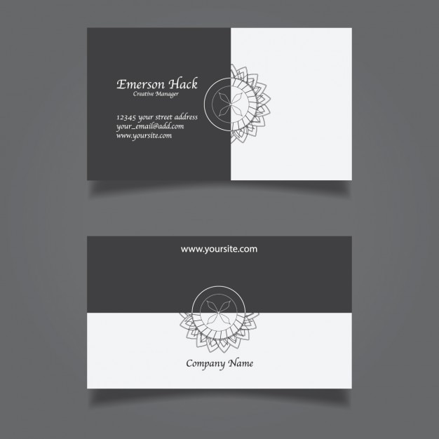 Black and White Elegant Business Card Vector