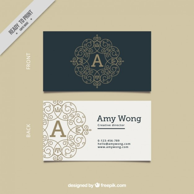 Black and white elegant business card vector free download for Business card without address