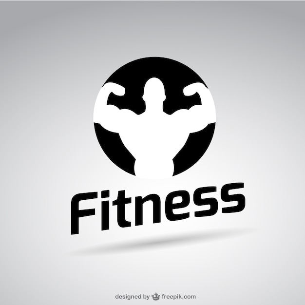 fitness logo  Black and white fitness logo Vector | Free Download
