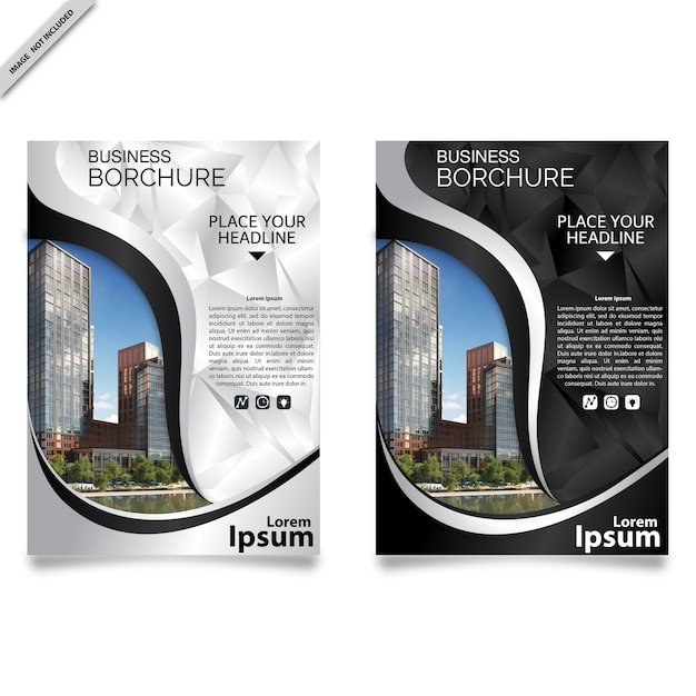 black and white flyer templates vector premium download