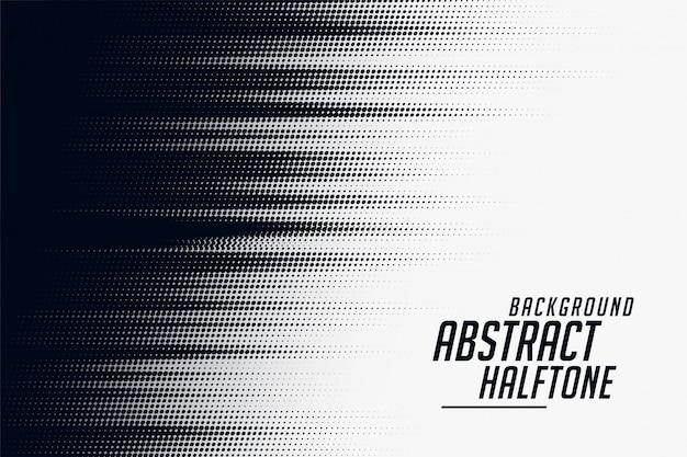 黒と白のハーフトーン速度パターン背景 無料ベクター