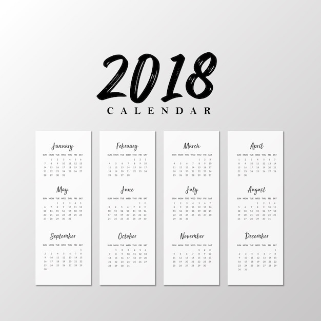 black and white happy new year 2018 free vector