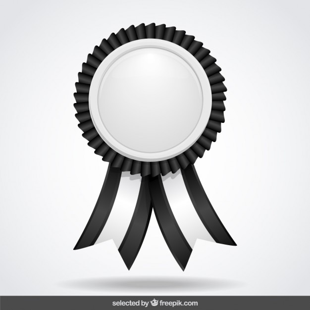 Black and white label with ribbons Vector | Free Download