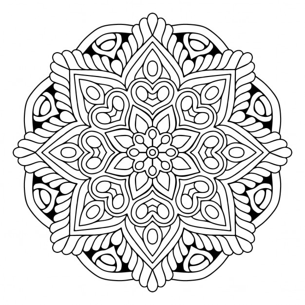 Black and white mandala Vector | Free Download
