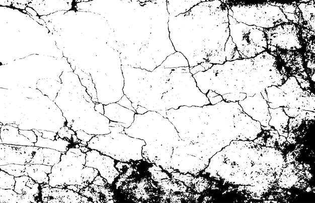 흑백 대리석은 단순한 질감을 균열. 프리미엄 벡터
